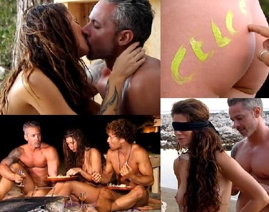 Miriam desnuda en el programa Adan y Eva de Cuatro